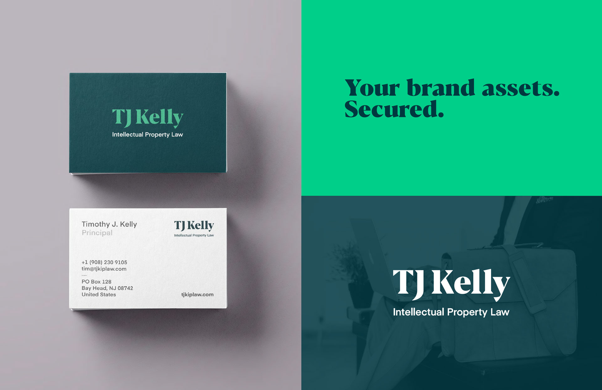 TJK Law Rebrand, Stationery & Website Design